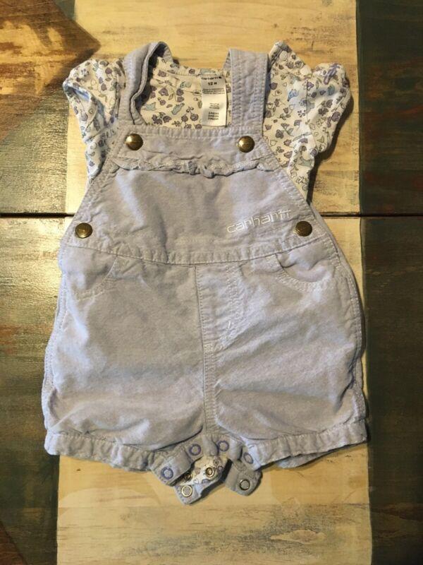 Purple Infant Girl Carhartt Overalls