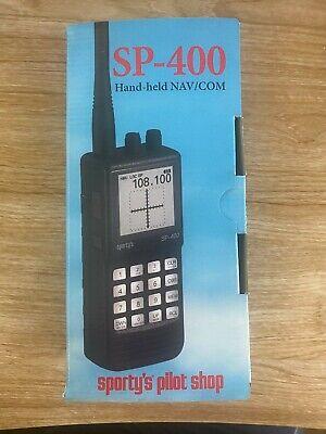 Sporty's SP-400 Air Band Handheld Nav/Com Transceiver - very lightly used