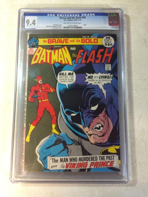 BRAVE and the BOLD #99 CGC 9.4, BATMAN, FLASH,  NEAL ADAMS, VIKING PRINCE, 1971