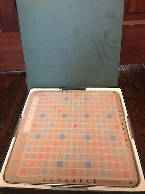 Selchow & Righter 1977 Scrabble Deluxe Edition Turntable Vintage Letters Complet