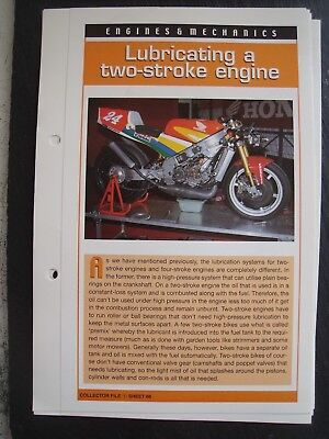 engine & mechanics LUBRICATING A TWO-STROKE ENGINE collector file fact sheet.