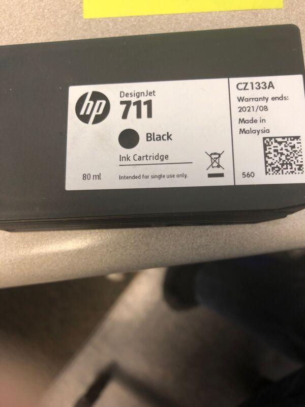 5 Used Hp 711  Black Design Jet Ink Cartridge Empty Refill
