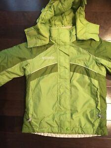 Girl's Columbia winter ski snowboard jacket size M 7/8