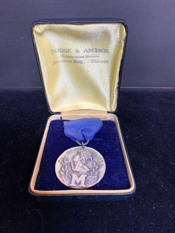 1925 Millikin Interscholastic Sterling Silver Award For 880 Yard Relay