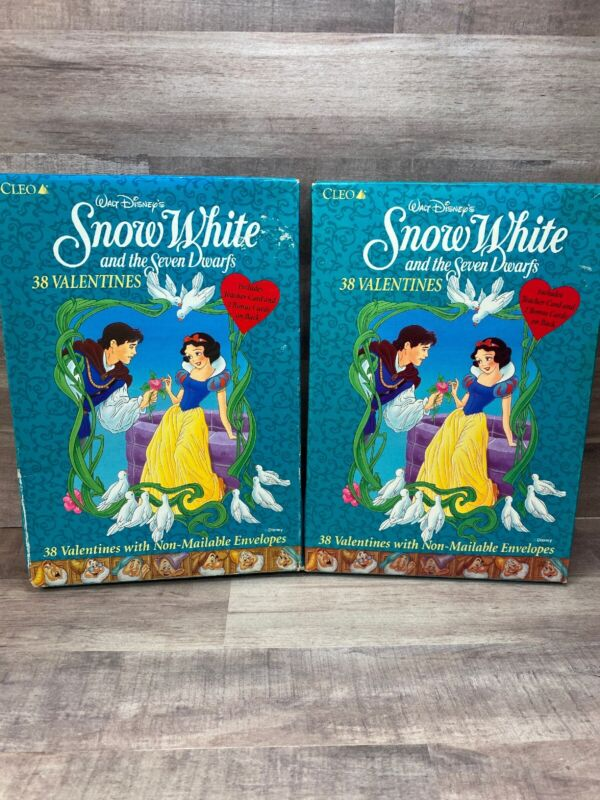 Vintage Snow White Valentines Day Cards Lot Of 2