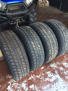 """Studded 16"""" Tires 215/70/16"""