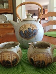 Pottery Tea Set -perfect condition.