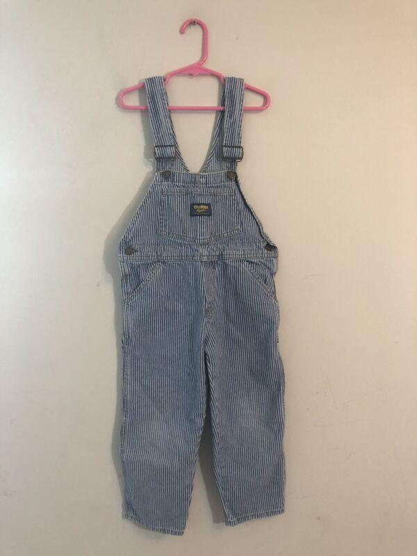Vintage Kid's OshKosh B'Gosh Striped Overalls