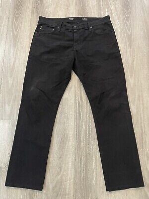 Adriano Goldschmied AG The Everett Slim Straight Jeans Mens 36x32 Black Pants