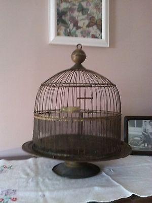 Vtg. ANTIQUE BIRD CAGE Brass wire Victorian HENDRYX Beehive Shabby Old Decorativ