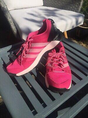 Adidas Kanadia 7 TR women's running shoes dark grey pink trekking running Uk 7
