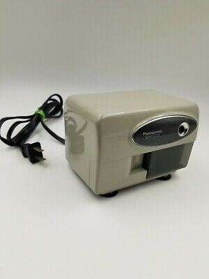 Vintage Panasonic Kp-310 Auto Stop Pencil Sharpener Wood Grain Tested Working