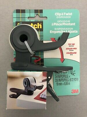 Brand New Scotch Clip Twist Desktop Tape Dispenser Great For Gift Wrap Etc