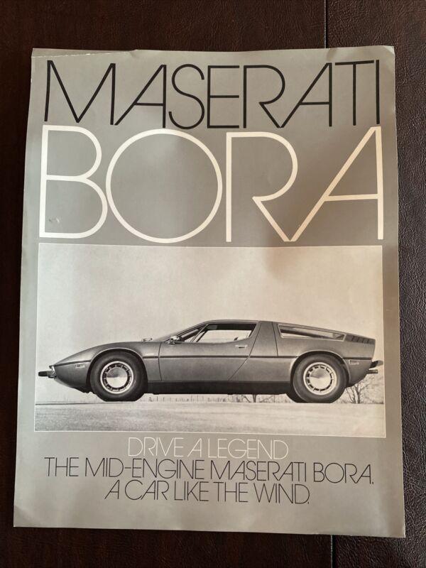 Maserati Bora Single Sheet Brochure Original Good Condition