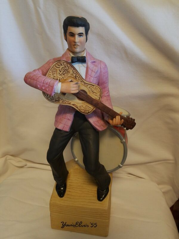 "Vintage ""Yours Elvis '55"" Large McCormick Whiskey Decanter and Music Box"