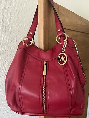Fabulous Michael Kors Soft Red Leather Bag