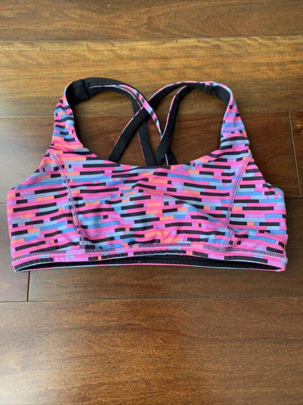 Ivivva girls multicolor bra size 14 reversible