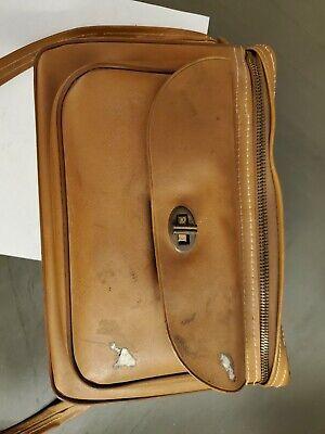 Vintage Brown Camera Shoulder Bag Photo Accessories Carry Case Serval USA zip