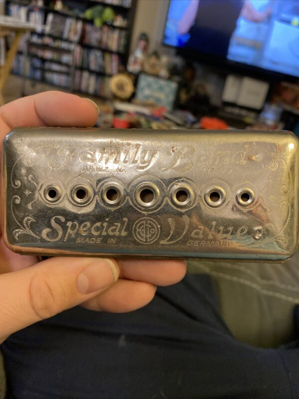 Vintage Special Value Family Band Harmonica Made In Germany