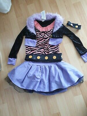 derkostüm Monster High Clawdeen Wolf 5-7 Jahre Gr.M (Monster High Clawdeen Wolf Kind Kostüm)
