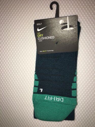 BRAND NEW Nike Golf Dry Cushioned Crew Socks SG0780 372 Size L 1 Pair