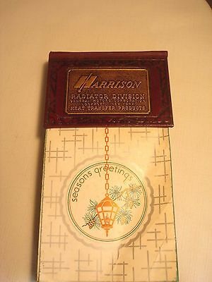 Vintage   1967  General  Motors  Harrison  Radiator  Leather  Desk  Calendar