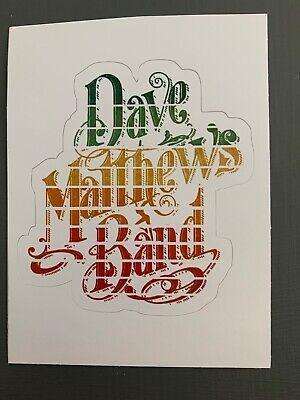 """Dave Matthews Band Sticker 3"""" x 3.2"""