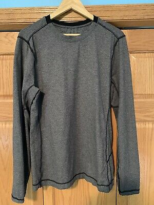 Lululemon Mens Large Long Sleeve Shirt Heathered Gray