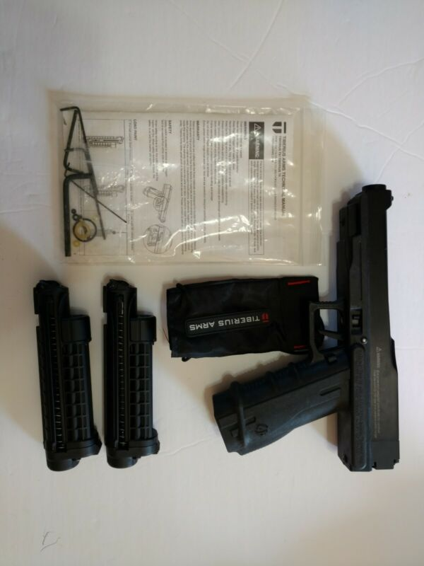 Tiberius Arms Paintball Marker Pistol with Accessories