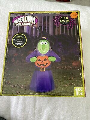 gemmy airblown inflatable halloween Witch with Pumpkin