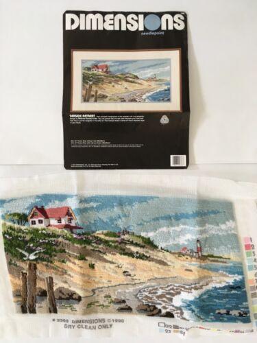 Dimensions Seaside Retreat Needlepoint Kit #2368 Finished