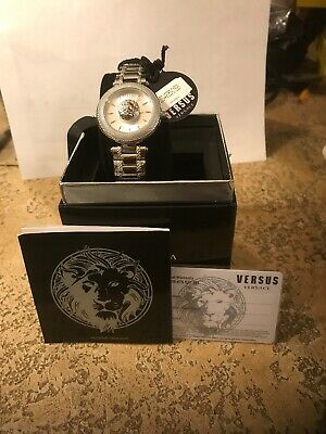 NEW AUTHENTIC VERSUS BY VERSACE BRICK LANE SILVER WOMEN'S VSP640418 WATCH