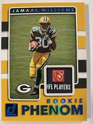 - JAMAAL WILLIAMS 2017 Donruss Rookie Phenom RC Card NFL PLAYERS PATCH - 1 of 1!!