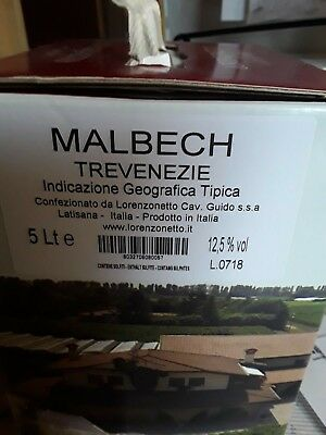 5 Liter Wein Rotwein Malbech Friaul Italien Bag in Box mit Zapfhahn 12,5%