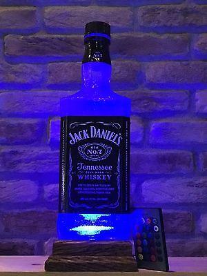 Jack Daniels Big 1.75 L Remote Control Bottle Lamp Man Cave Christmas Gift for sale  Roaring Spring