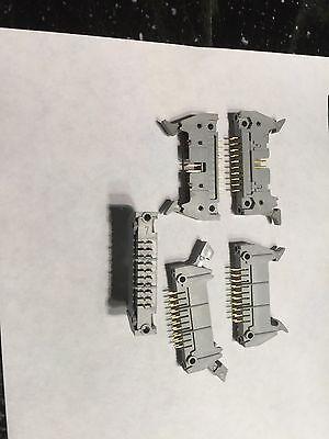 3M 3428 Latching PCB Mount Dual Row Header Connectors 20 Pos  - 10 Pcs