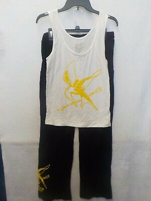 Hunger Games Woman (WOMENS JUNIORS HUNGER GAMES WHITE BLACK 2 PC PAJAMAS NEW)