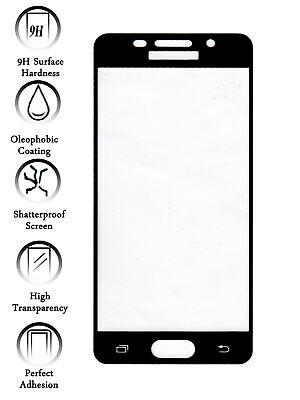Protector de Pantalla Cristal Templado COMPLETO 3D para Galaxy A5 2016 Negro