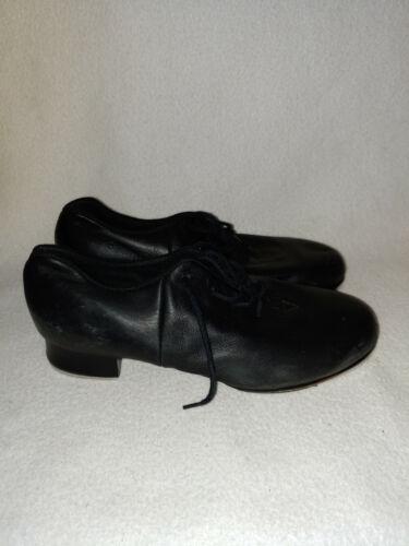 Women Bloch Split Sole Tap Shoe Shockwave Leather Black Lace Up Size 7 M