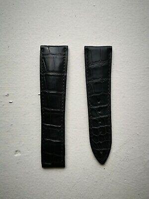 Authentic Blancpain Alligator Strap Black 21/18 mm buckle leman aqua lung medium