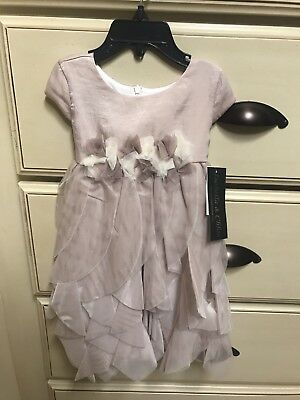Isobella and Chloe Little Girls Dress Champagne Pixie Layers 24M - Little Pixie Clothes