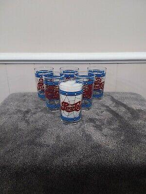 Vintage 6 oz. Pepsi Cola Tiffany glasses