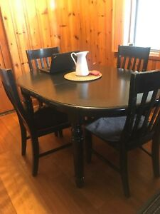 Kitchen  Dining table and chairs with stools