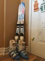 Girls Head Skis length 95, Lange Boots 19.5 (sz 13) - $125