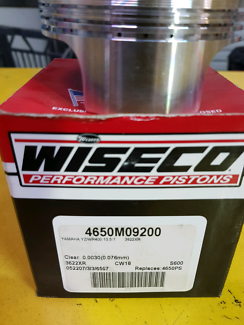 Wiseco piston to suit yz/wr400