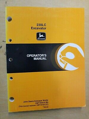 John Deere 230lc Excavator Operators Manual