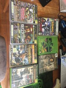 PS3 Xbox original and Xbox 360 games/controllers +movie