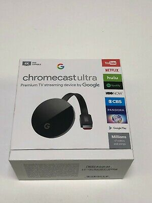 Google Chromecast Ultra Media Streaming Player with UHD 4K Resolution in Black