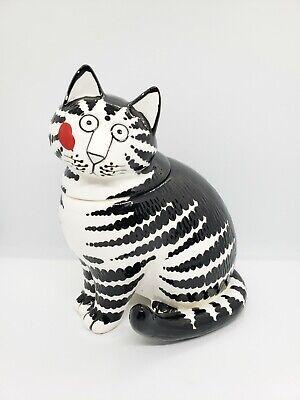 Vtg Tastesetter by Sigma Hand Painted Porcelain Ceramic Kliban Cat Cookie Jar