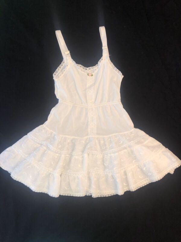 EUC Vintage White Her Majesty Petticoat Lace Tiered Slip 7 Tutu twirl Dress girl